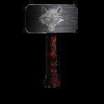Thorshammer with wolfhead northmyth